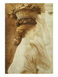 Eucharis  a Girl with a Basket of Fruit