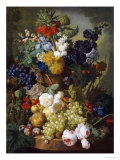 A Still Life of Flowers and Fruit