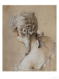 Head of a Woman Seen from Behind  circa 1740