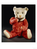 Gilbert  a Rare Steiff Dolly Bear with a Red Mohair Body and a White Face