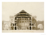 Cross-Section of the Front Section of the Theatre  from Designs for the Comedie Italienne