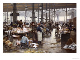 The Fish Hall at the Central Market  1881