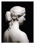Fine American White Marble Bust of Proserpine  Hiram Powers  19th Century