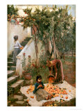 The Orange Gatherers Giclée par John William Waterhouse