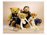 "Soldier Teddy Bears ""Albert""  ""Jack""  ""Harrison"" and ""Thomas"""