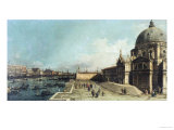 The Entrance to the Grand Canal  Venice  Looking East  with the Church of Santa Maria Della Salute