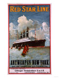 Red Star Line  Antwerpen-New York  circa 1910