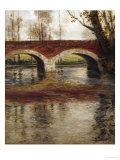 A River Landscape with a Bridge