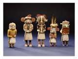 Five Hopi Cottonwood Kachina Dolls