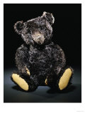 A Rare Black Steiff Teddy Bear with Rich Black Curly Mohair  circa 1912