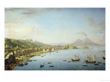 View of Naples from Posillipo with the Riviera Di Chiaia
