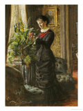 Portrait of Fru Lisen Samson  Nee Hirsch  Arranging Flowers at a Window  1881