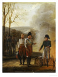 The Meeting of Napoleon and Francois II  Emperor of Austria  with the Prince of Lichtenstein