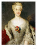 Portrait of Anna Friederike  Furtin Von Anhalt-Kothen  Half Length in a White Dress  circa 1738
