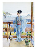 Geisha Standing on a Balcony  1893