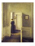 An Interior with a Woman  Painted in 1913