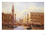 A View of the Piazzetta with the Doges Palace from the Bacino  Venice