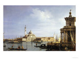 The Island of San Giorgio Maggiore  Venice with the Punta Della Dogana and Numerous Vessels