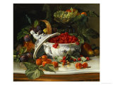 Plums  Grapes and Raspberries in a Porcelain Tureen  1885