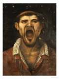 A Peasant Man  Head and Shoulders  Shouting