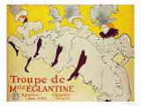 La Troupe de Mademoiselle Eglantine, 1896 Giclée par Henri De Toulouse-Lautrec
