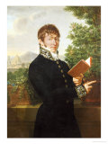 Portrait of an Official  Said to Be l'Intendant Delonay  Standing Above Florence  1809