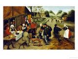 Peasants at a Roadside Inn