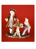 A Meissen Porcelain Group of the Quack Doctor and Harlequin  19th Century