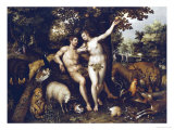 Eve Tempting Adam  the Creation of Eve and the Expulsion from Paradise Beyond