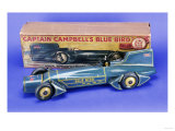 "A Gunthermann ""Captain Campbell's Bluebird""  Clockwork Blue Lithographed Tinplate Car  circa 1931"
