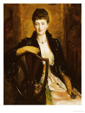 Portrait of Alice Sophia Caroline Wortley  Following Her Marriage in 1886 to Charles Stuart Wortley
