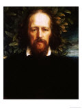 """The """"Bowman"""" Portrait of Alfred  Lord Tennyson  as Poet Laureate  1864"""