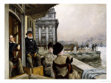 The Terrace of the Trafalgar Tavern  Greenwich  circa 1878