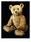 Fine Steiff Pale Golden Plush Covered Teddy Bear with Large Deep Set Black Button Eyes  circa 1910