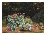 Summer Flowers in a Quiet Corner of a Garden  1882