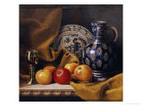 Still Life with a Jug  a Plate  a Goblet and Apples