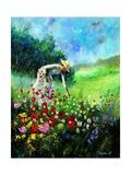 Plucking flowers