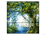 A Leaded Glass Landscape Window  1916