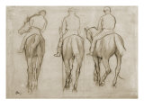 Jockeys Giclée par Edgar Degas