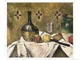 Glass and Fruit Flask Giclée par Paul Cézanne