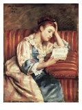 Young Woman Reading Giclée par Mary Cassatt