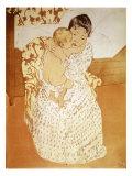 Caresse maternelle Giclée par Mary Cassatt