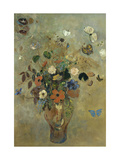 Bouquet of Flowers with Butterflies