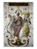 Decorative Panel with Jupiter  Juno and Dancer