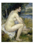 Nude Woman Seated in a Landscape