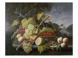 Still Life with Fruit in Landscape