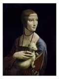 Portrait of Cecilia Gallerani (Lady with an Ermine) Giclée par Leonardo Da Vinci