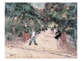 Entrance to the Public Gardens in Arles  c1888