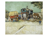Caravans Encampment of Gypsies