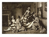 Betsy Ross Sewing the First United States Flag